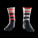 Product image of Red Raceskin Mismatch Socks