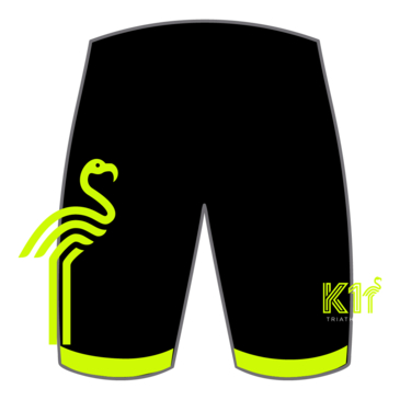 Product image of K1 - Elite Tri Shorts - Fluro Yellow