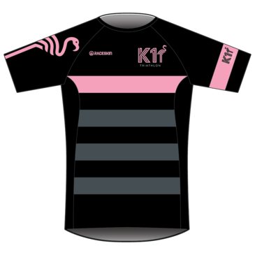 Product image of K1 - Run T-shirt - Black/Pink