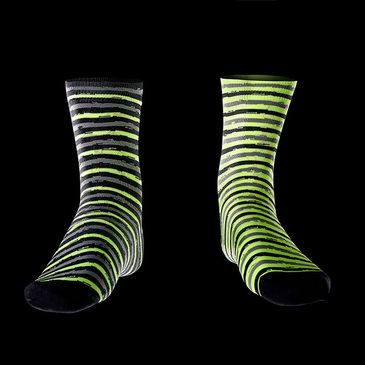 Product image of Fluro Raceskin Mismatch Socks.