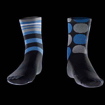 Product image of Blue Raceskin Mismatch Socks.