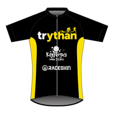 Product image of Trythan - SS Cycle Jersey (black and yellow)
