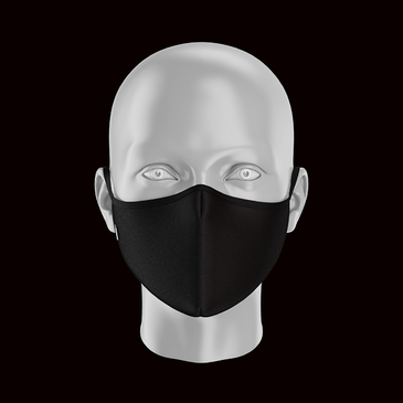 Product image of Adult Plain Black Face Mask