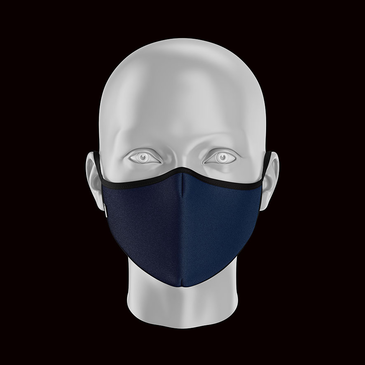 Product image of Adult Plain Blue Face Mask