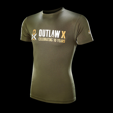 Product image of Outlaw X Male Olive Performance T-shirt
