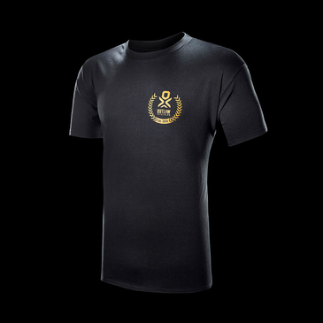Product image of Outlaw Gold Logo Black Cotton T-shirt